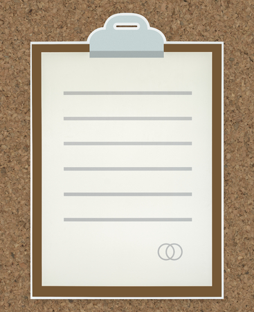 Business document paper icon isolated