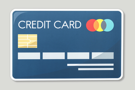 Credit card icon vector illustration Stock Photo