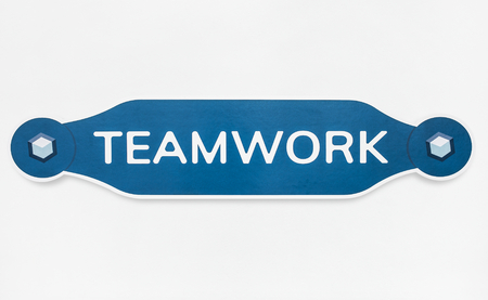Badge of teamwork icon isolated