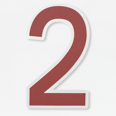 Number 2 icon isolated Stock Photo