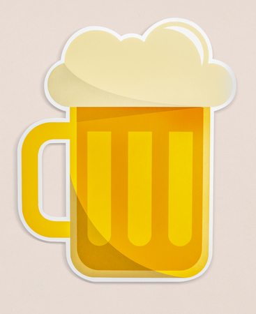 A glass of beer icon isolated Stock Photo - 110600925