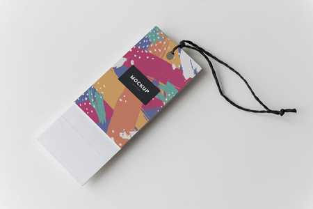 Colorful bookmark tags mockup design 写真素材 - 110602742