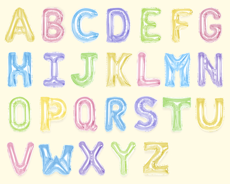 Set of colorful capital alphabet balloons Standard-Bild - 110602782