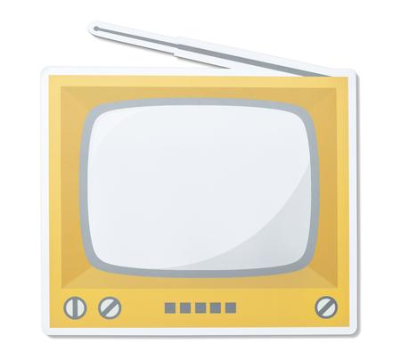 Retro TV vector illustration icon
