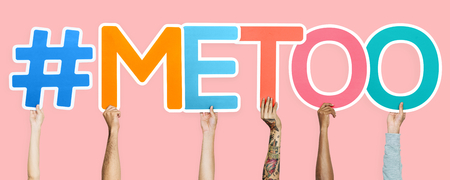 Colorful letters forming the word #metoo
