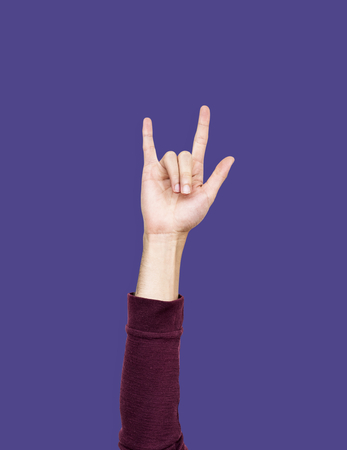Hand with love expression gesture Foto de archivo - 110602986