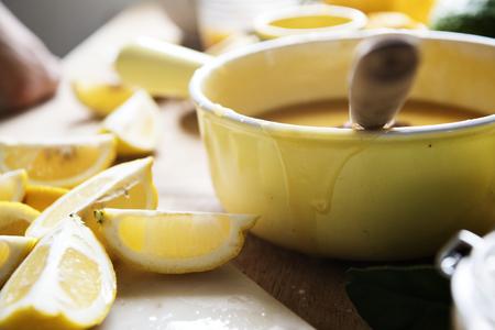 Lemon curd food photography recipe idea Banque d'images - 110603371