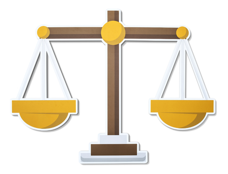 Scale of justice illustration icon