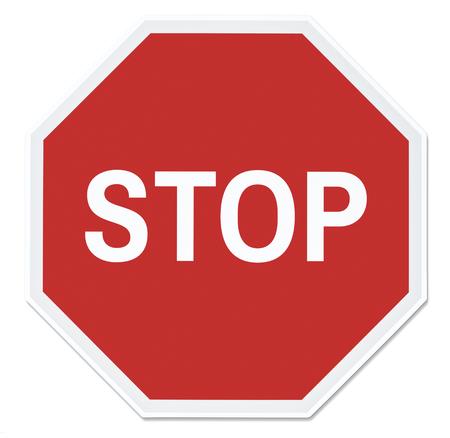 Stop street sign vector illustration