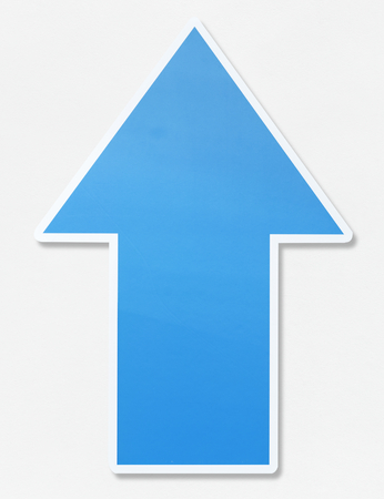 Blue arrow pointing upwards icon