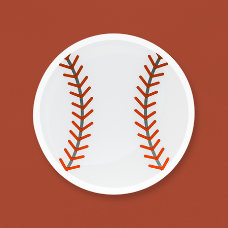 Baseball with red seam icon