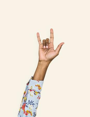 Hand with love expression gesture Foto de archivo - 110603500