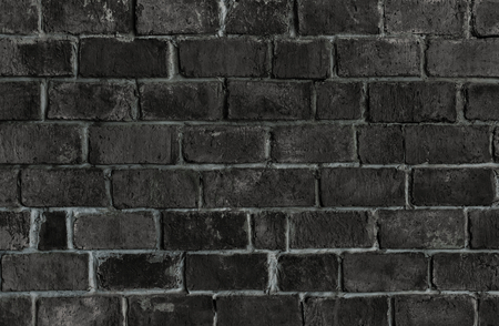 Black textured brick wall background