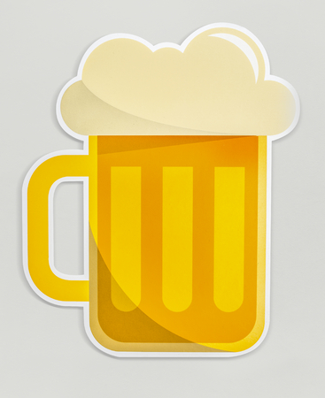 A glass of beer icon isolated Banco de Imagens