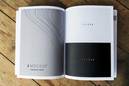 Mockup della pagina della rivista con trama d'onda