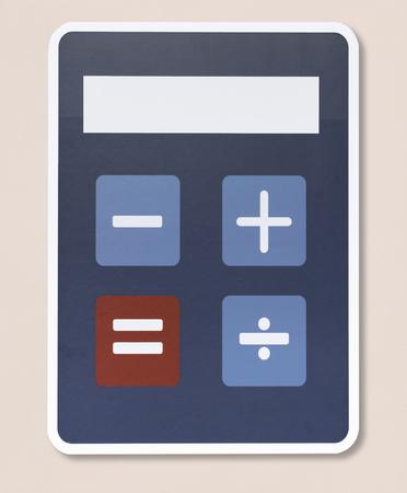 Mathematic calculator vector illustration icon