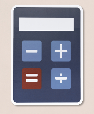 Mathematic calculator vector illustration icon