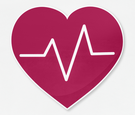 Heartbeat frequency vector illustration icon Banque d'images - 111359936