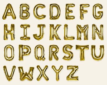 Ensemble de ballons alphabet AZ capital or Banque d'images