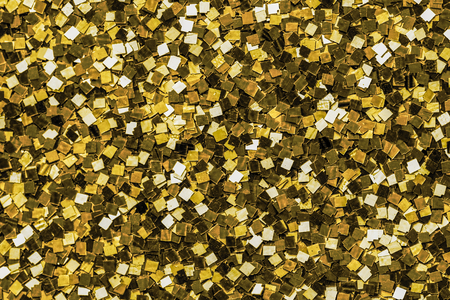 Close up of golden sequin background