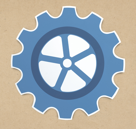 Gear icon set isolated on background