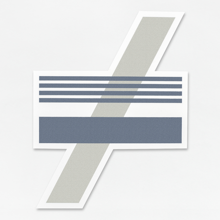 Not equal sign icon isolated