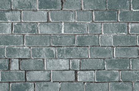 Green textured brick wall background