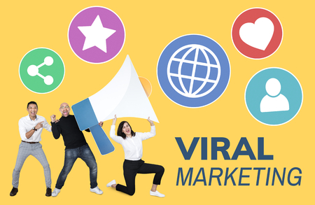 People working on viral marketing