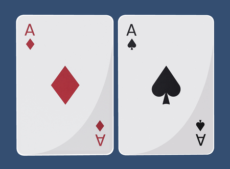 Diamond and spade ace cards
