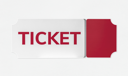 Red and white entrance ticket icon