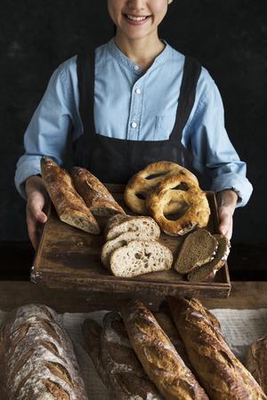 Assortment of fresh bread food photography recipe ideas