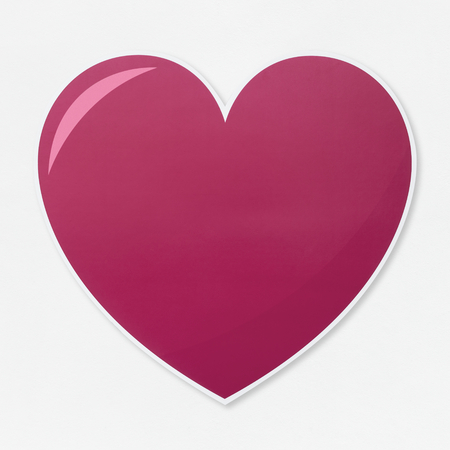 Isolated heart shape illustration icon
