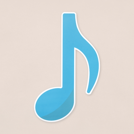 Blue eighth notes  icon isolated Banco de Imagens