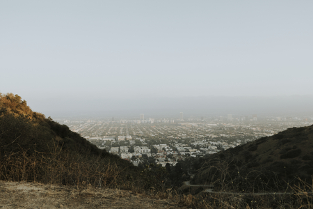 View of Los Angeles from a hill