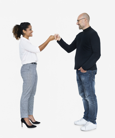 Business partners doing a fist bump