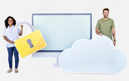 Internet security and protection concept shoot