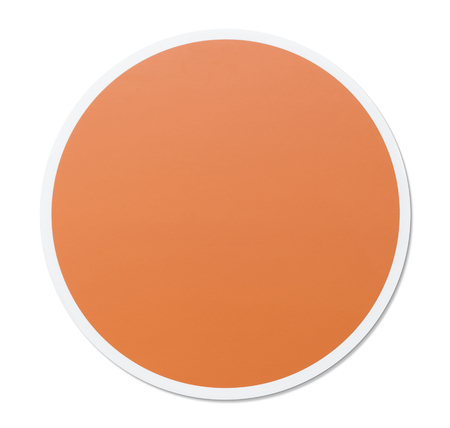 Round empty orange circle vector illustration