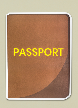 A passport isolated on background 写真素材