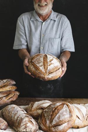 Homemade sourdough bread food photography recipe idea