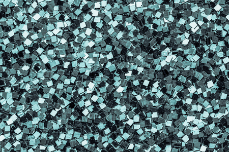 Close up of green sequin background Banco de Imagens