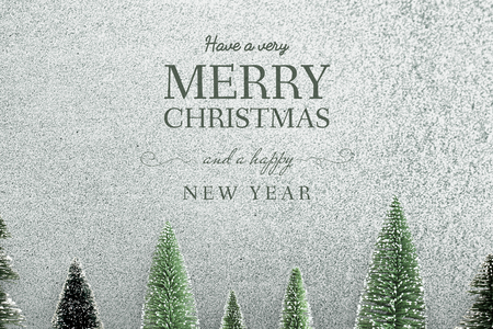 Merry Christmas and Happy New Year greeting card mockup