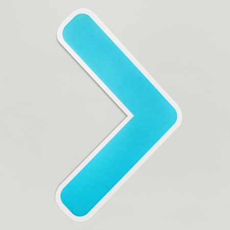 Greater than math sign icon isolated Stock Photo