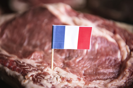 Fresh French beef food photography recipe idea