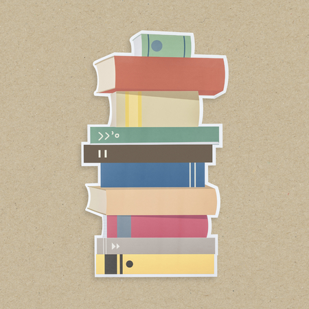 Stack of books icon isolated Foto de archivo - 111935757