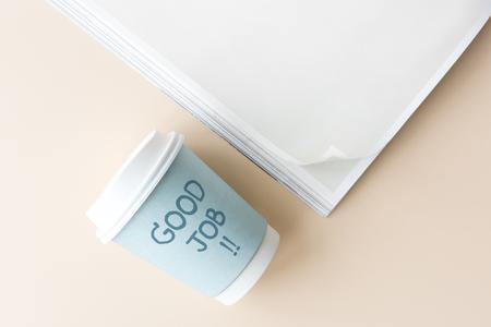 Good job written on a paper cup