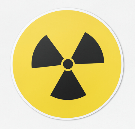 Radioactive icon in white background