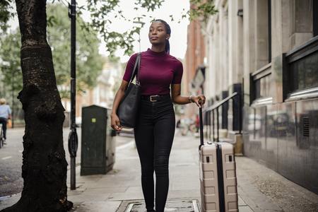 Tourist walking around in London, United Kingdom