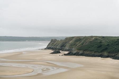 Beautiful Three Cliffs Bay in the United Kingdom