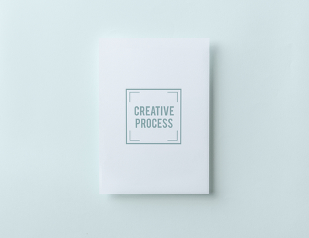 Creative process paper card mockup