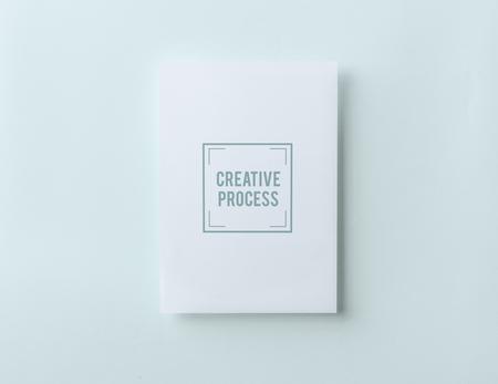Creative process paper card mockup Stock fotó - 112148098